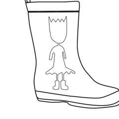 Princess Boot Outline