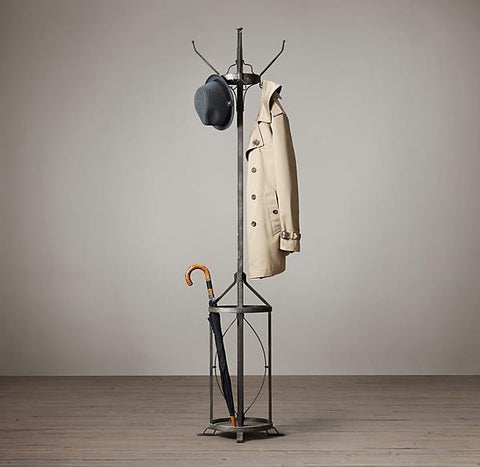 Metal Coat Stand with Umbrella Holder