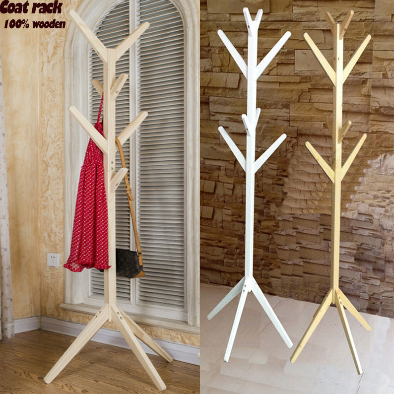 100% wooden tree coat stand with 8 hooks
