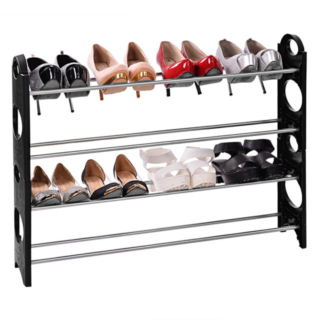 Aluminum 4 Tier Shoe Shoe Display
