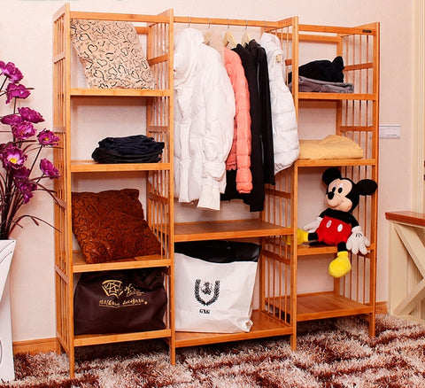 Self-assembly clothes rack and storage