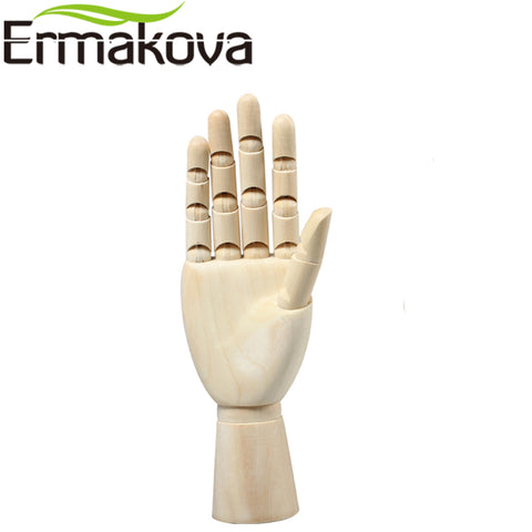 ERMAKOVA 10 Inches Tall Wooden Hand Drawing Sketch Mannequin Model Wooden Mannequin Hand Movable Limbs Human Artist Model