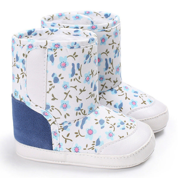 Winter camouflage boots for baby (blue/pink/white/black)