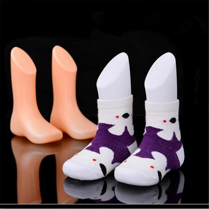Children Foot Display Mold Socks Shoes Mannequin Modeling Feet Short Stocking For Home DIY Supplies Accessories