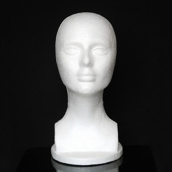 Female Mannequin Head - Styrofoam