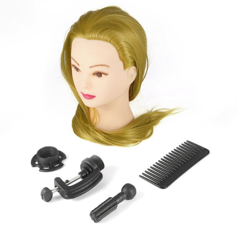 26 inch Golden Training Mannequin Head Hairdressers Dummy Hairstyles Long Hair Dolls Heads Mannequin Head Hot Sale