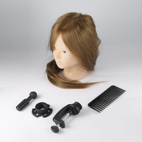 26 inch Brown Training Mannequin Head Hairdressers Dummy Hairstyles Long Hair Dolls Heads Mannequin Head For Practice Hot Sale