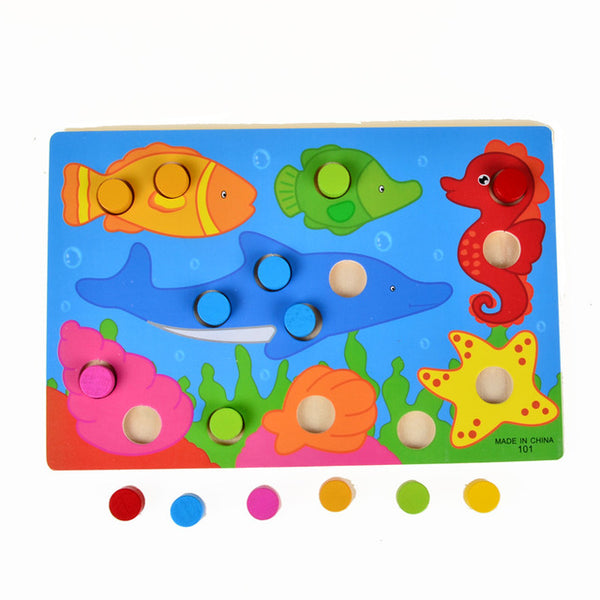 Colour Matching Peg Puzzle Board (four choices)