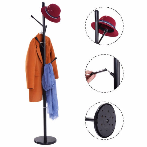 Low-cost simple metal clothes stand with umbrella holder