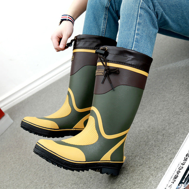 Fishing Boots (green and yellow)