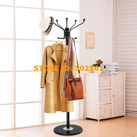 Coat Stand Free-Standing Marble base with 12 Hooks