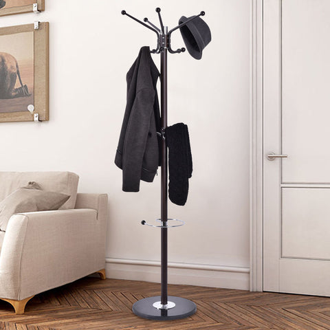Metal Coat Stand with Umbrella/Bag Hanger