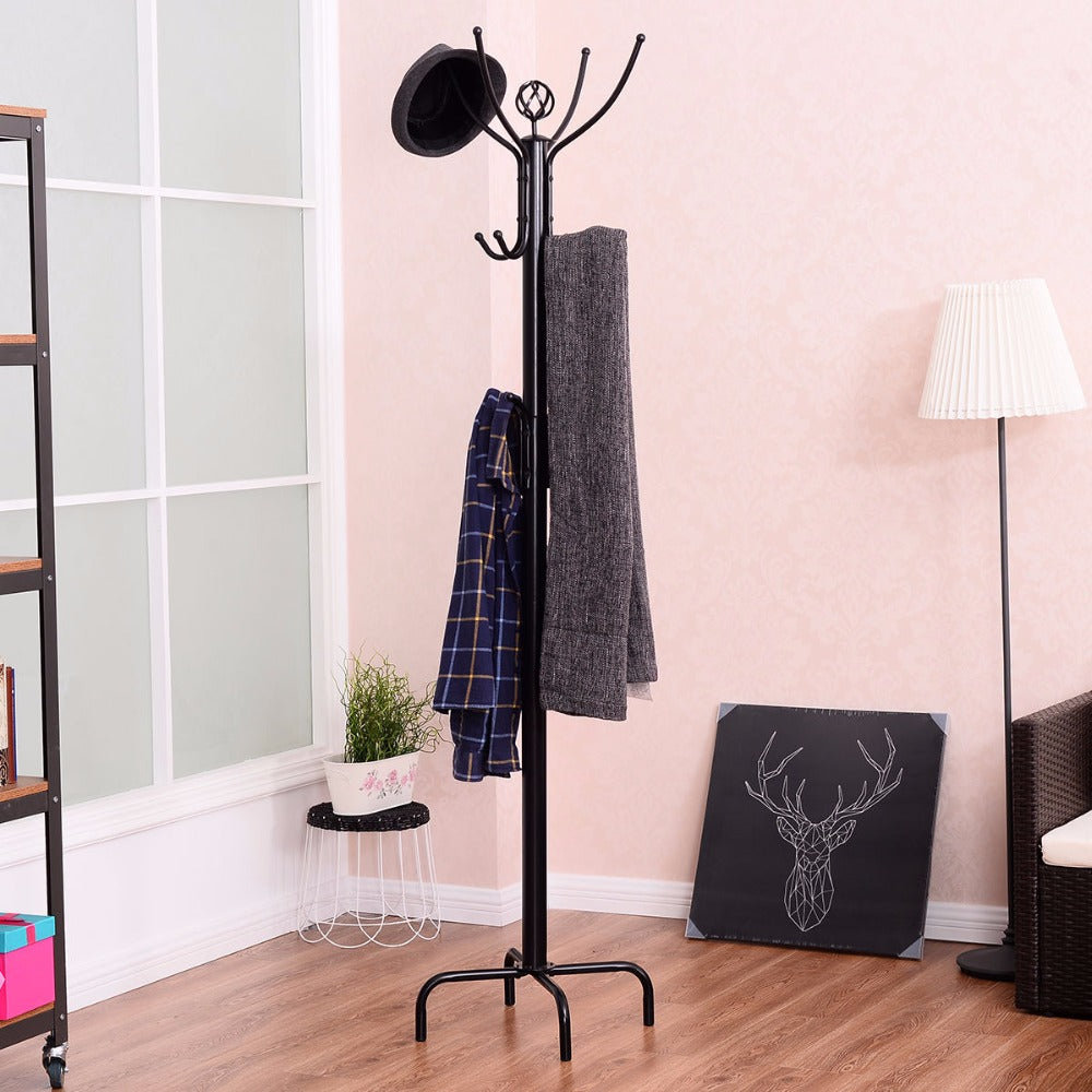 Coat stand made in steel (colour: black)