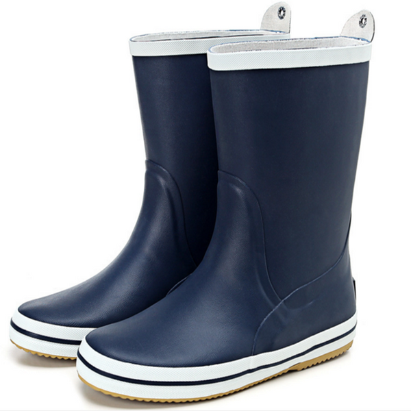 Blue/Black Wellies