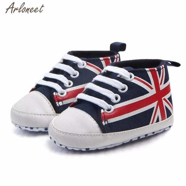 Baby Union Jack Flag Sneakers