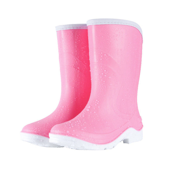 HEE GRAND Women Rain Boots Women Ankle Boots with Candy Color Platform High Warm Medium Heel Women Shoes Size 36-40 XWX6735