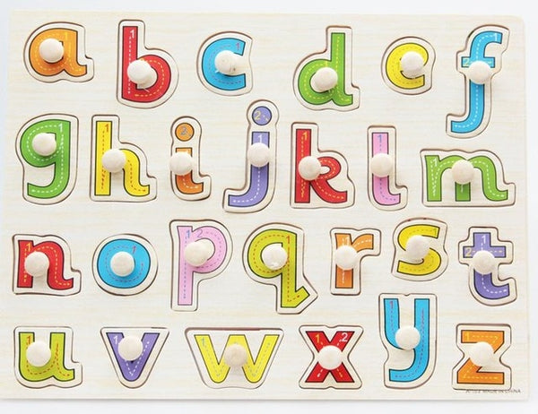 Wooden Peg Puzzles (choose from farm, alphabet, shapes, sealife)