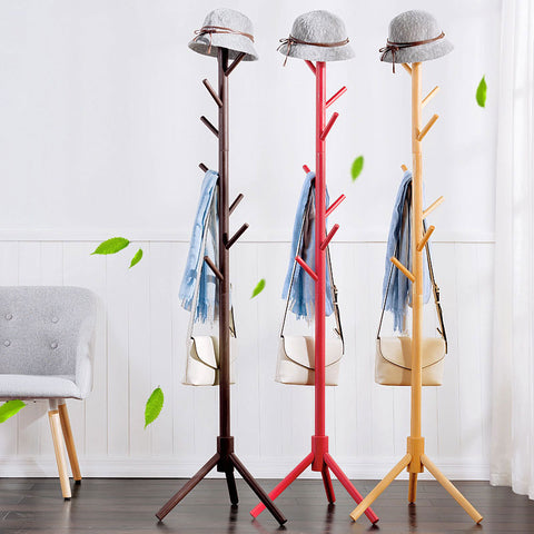 Simple Tripod Peg Style Floor Standing Coat Rack