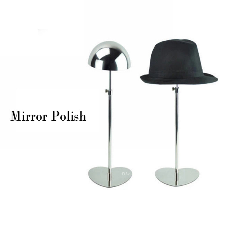 Free shipping Metal Hat display stand mirror polish hat display rack hat holder cap display HH002-Mirror polish