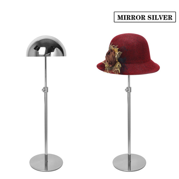 METAL STAINESS STEEL HAT CAP DISPLAY STAND HOLDER RACK Height Adjustable MJ05