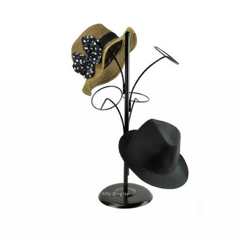 Free shipping Metal Hat display stand black hat display rack hat holder cap display HH006