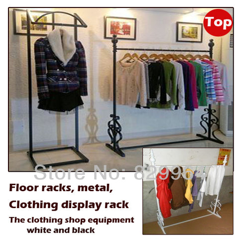 Metal retail clothing rack