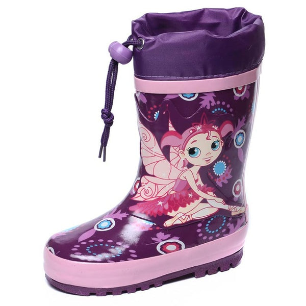 FLAMINGO branded 2017 new collection spring-autumn fashion gumboots with wool quality anti-slip kids shoes for girls 71-HL-0007