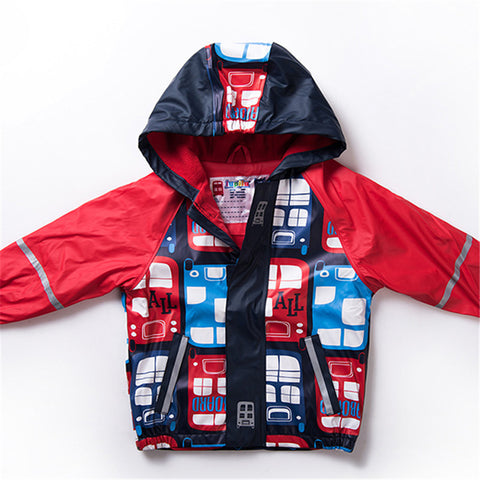Kids Hooded Raincoat