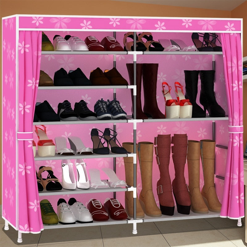 Simple multi-tier shoe rack