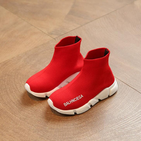 Fly weave Kids shoes 2018 autumn (red/black)