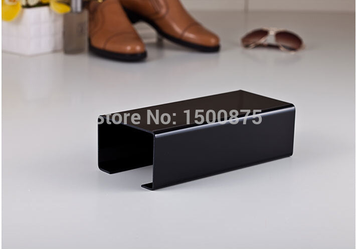 2pcs Black Color Acrylic Display Rack for Shoe, Handbags, Wallets