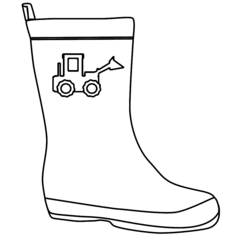 Tractor Welly Outline
