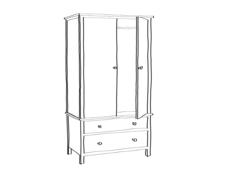 Wardrobe Furniture Outline