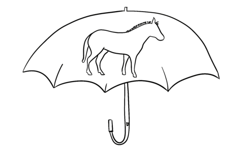 Zebra Umbrella Outline