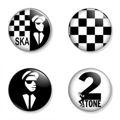 2 Tone Badge Set
