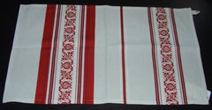 Handwoven kitchen towel - red pomegranates