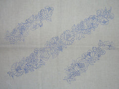 Bands of flowers - Kalocsa embroidery prestamped pillowcase