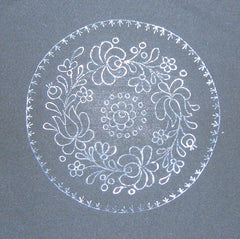 Band of roses - Matyo embroidery prestamped doily