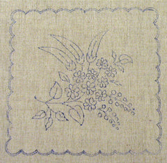 Flowers and Paprika - Kalocsa embroidery prestamped doily