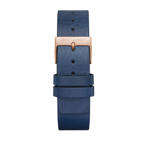 INDIGO LEATHER STRAP (GOLD)