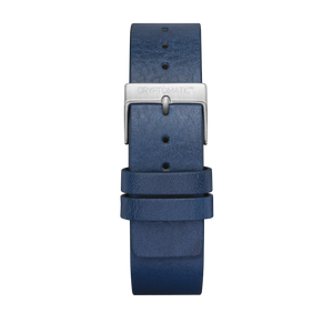 INDIGO BLUE LEATHER STRAP (SILVER BUCKLE)