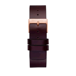 CHOCOLATE LEATHER STRAP (GOLD)