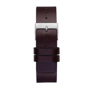 CHOCOLATE LEATHER STRAP (SILVER)