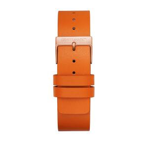 TANGERINE LEATHER STRAP (GOLD)