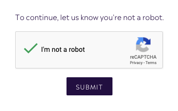 Click the Captcha to Create a Customer Account with Purple Urchin - Loyalty Points Program