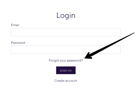 Reset your Password for your Customer Account - Purple Urchin's Loyalty Points Program