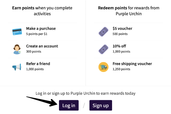 Reset your Customer Accounts Password - Purple Urchin Loyalty Points Program