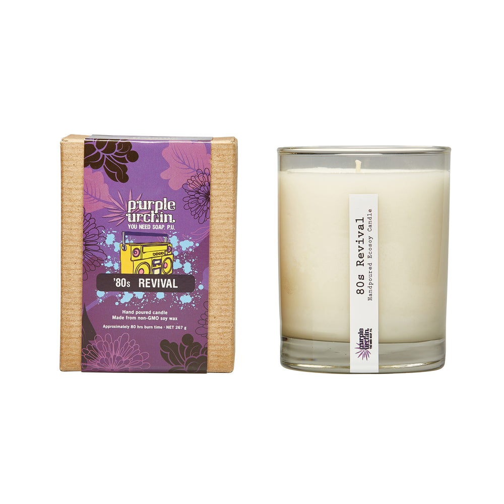 '80s Revival Soy Candle - Purple Urchin