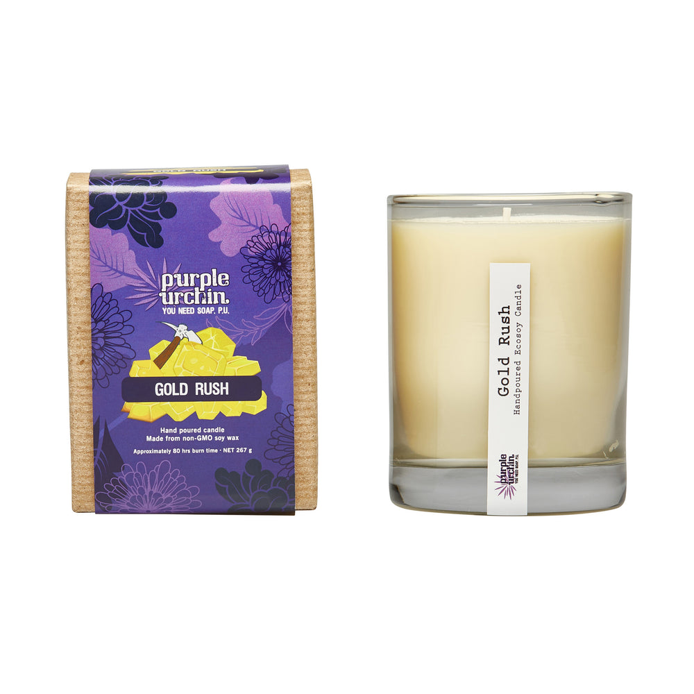 Gold Rush soy candle
