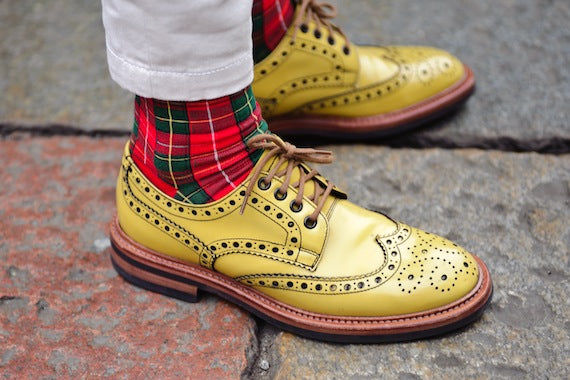 tartan-socks_yellow_brogues_Milan-mens-fashion-week-Street-Style_15_autumn_winter-2014_2015_Street-Style_14